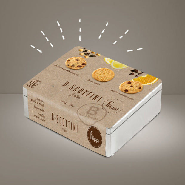 B-Scottini, Cookies with chocolate hazelnut, lemon, orange chocolate cookies, 220g