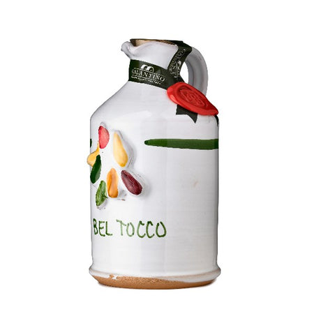 """Bel Tocco"" Aromatic Herb Extra Virgin Olive Oil in Hand Painted Ceramic"