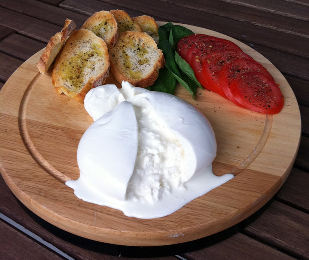 Creamy Burrata cheese made in Charlotte,NC