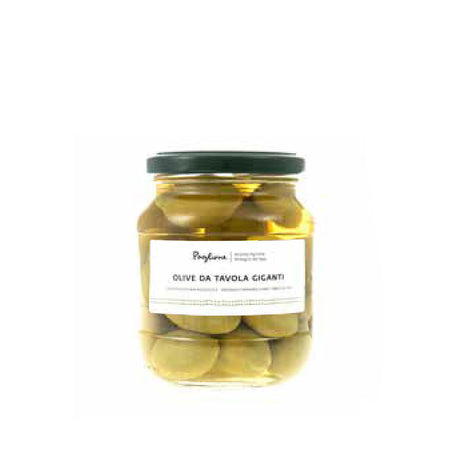 Organic jumbo table olives, 314g