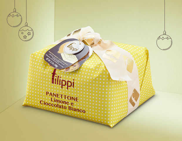 Filippi Panettone with Candied Lemon Peels and White Chocolate, 500g