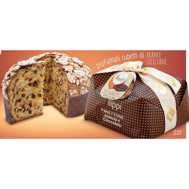 Filippi Panettone with Candied Orange and Chocolate 500g