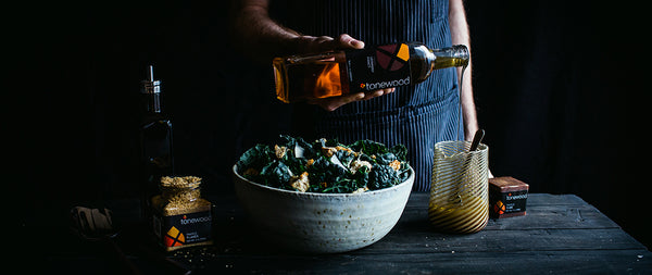 Kale Salad with Maple Bacon