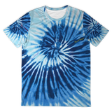 Light Blue And Dark Blue Luxury Tie Dye Design Street Wear T-shirt