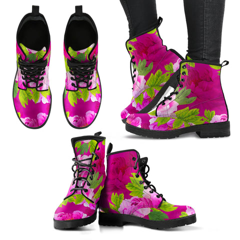 Pink Peony Lovers Handcrafted Boots