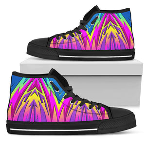 Racing Style Blue & Colorful Pink Vibes High Top Shoes