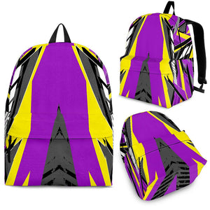 Racing Colorful Style Violet & Black Vibe Backpack