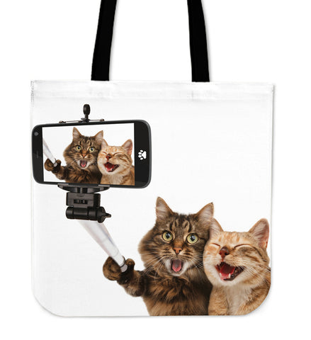 Funny Smiling Lovely Cats Cloth Tote Bag