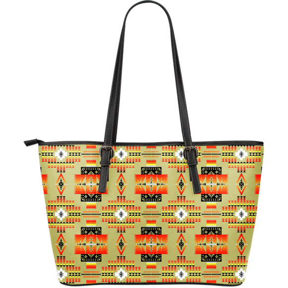 Seven Tribes Tan Large Leather Tote Bag