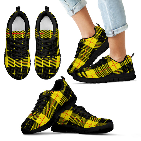 Yellow Tartan Passion Kid's Sneakers