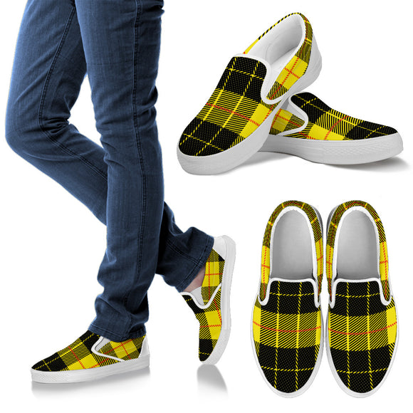 Yellow Tartan Passion Men's Slip Ons