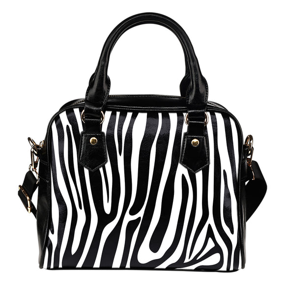 White Cheetah Pop Art Shoulder Handbag
