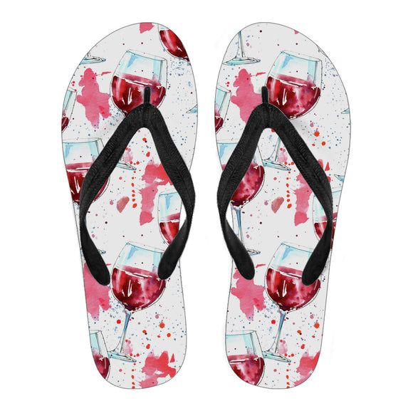 A Glass Of Wine Women's Flip Flops