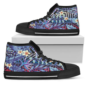 Summer Jungle Love Men's High Top Shoes
