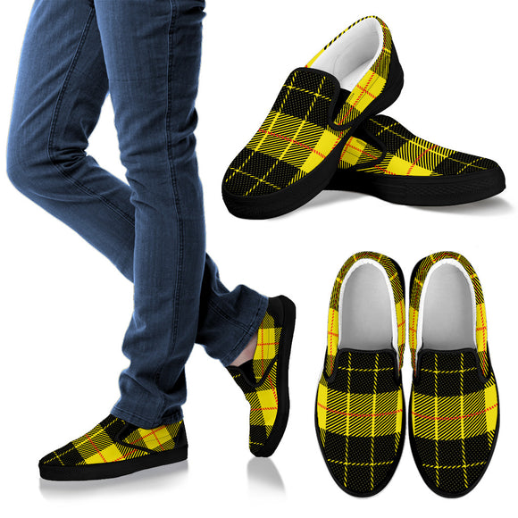 Yellow Tartan Passion Women's Slip Ons