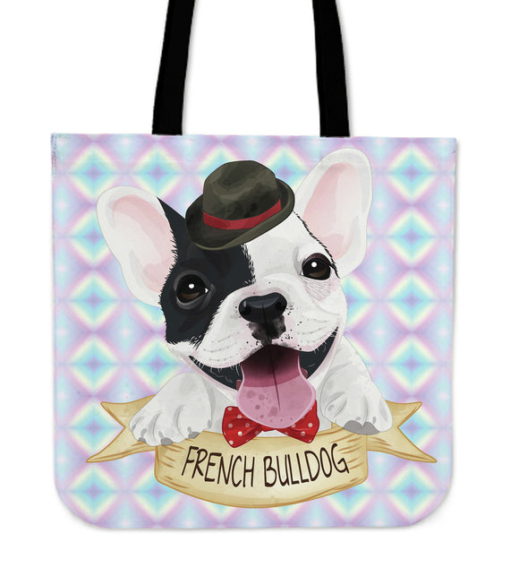 Cute French Bulldog Cloth Tote Bag