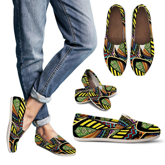 Ornamental Peacock Yellow Love Women's Casual Shoes