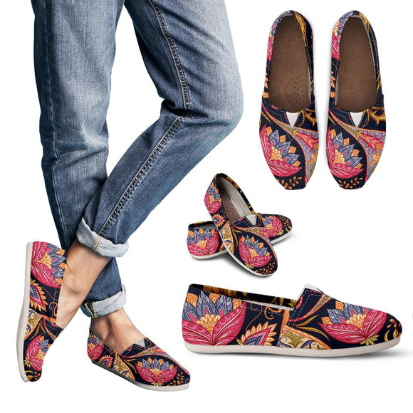 Royal Blue Paisley Women's Casual Shoes