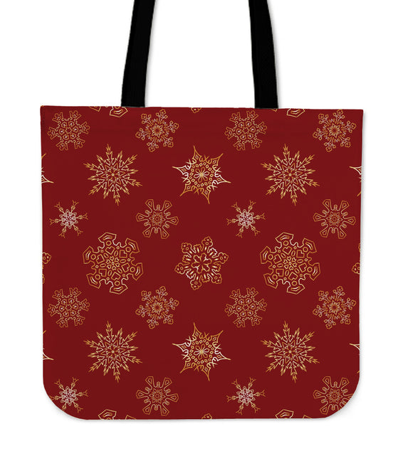 Christmas Red Good Vibes Only  Cloth Tote Bag