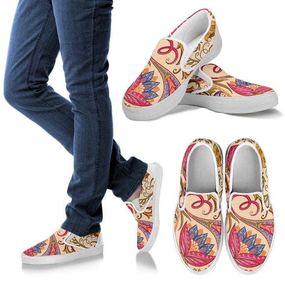 Royal Paisley Women's Slip Ons