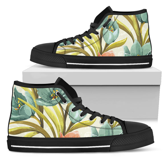 Lovely Flowers Men's High Top Shoes