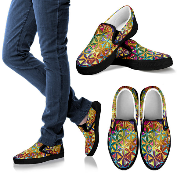Flower Of Life Women's Slip Ons