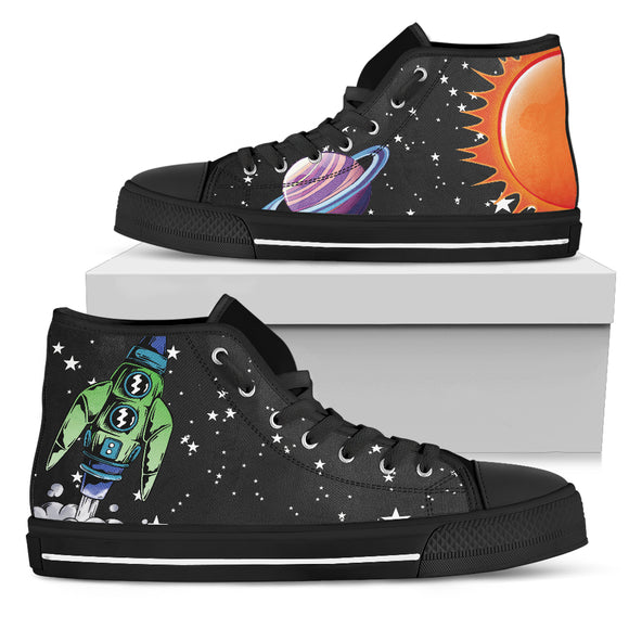 Rock'n Rockets Men's High Top Shoes