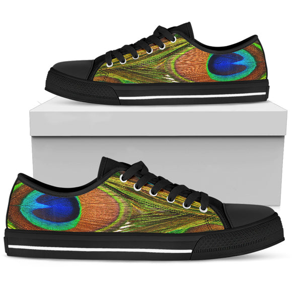 Peacock Pattern Women's Low Top Shoes