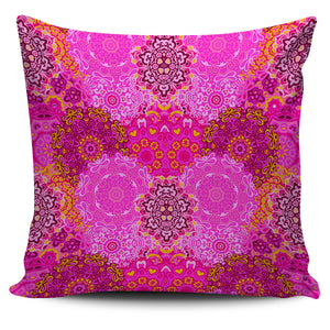 Beautiful Pink Mandala Pillow Cover