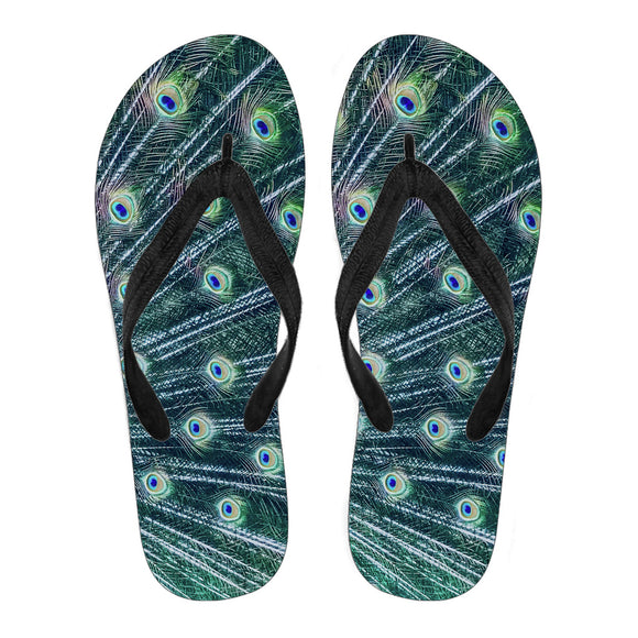 Peacock Feather Women's Flip Flops
