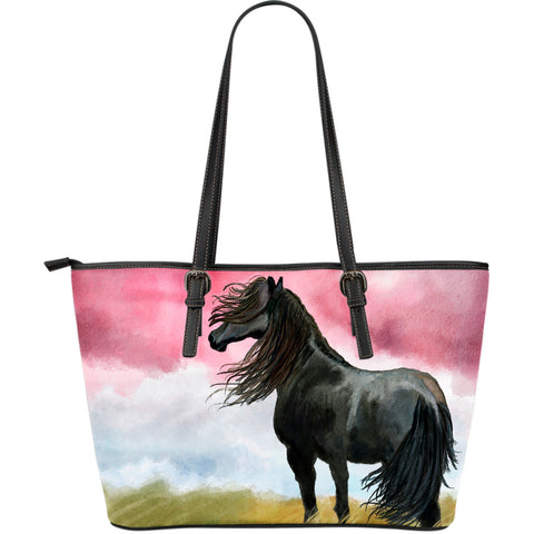 Art Horse Large Leather Tote Bag