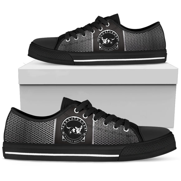 Basset Hound Men's Low Top Shoes