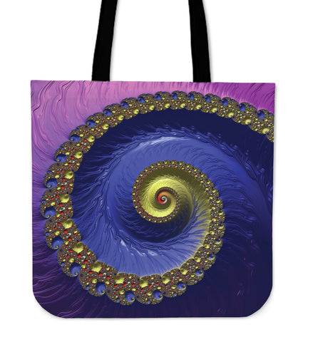 Monumental Psychedelic Vision Cloth Tote Bag