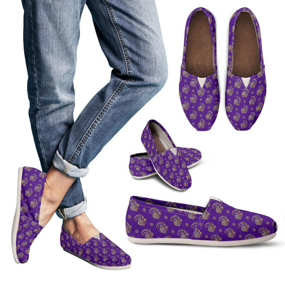 Lucky Purple Elephant Women's Casual Shoes