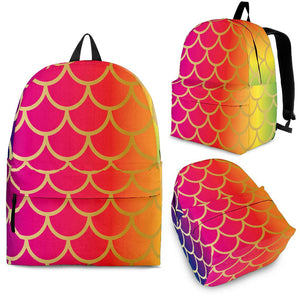 Rainbow Fish Scale Backpack