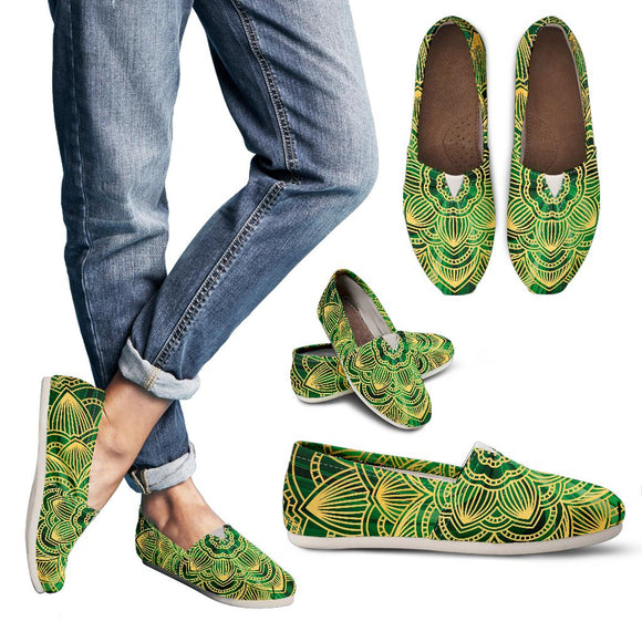 Glamour Green Mandala Women's Casual Shoes