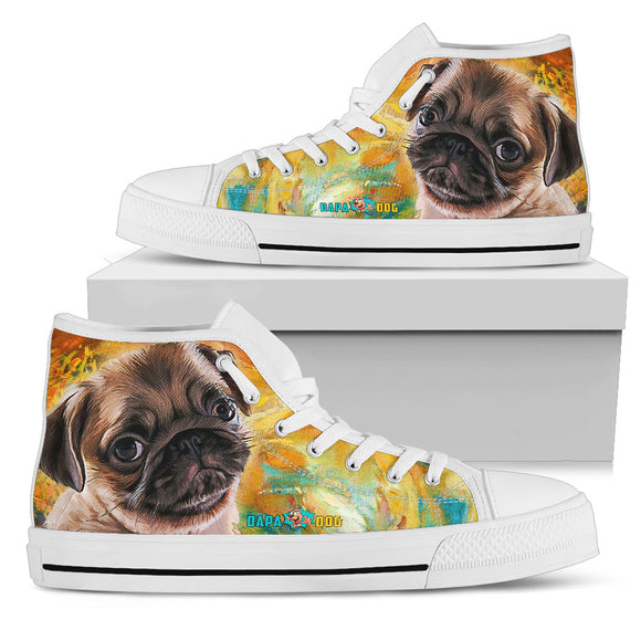Pug Lovers Women's High Top Shoes