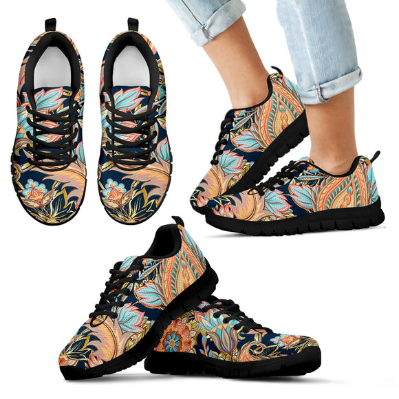 Romantic Paisley Kid's Sneakers