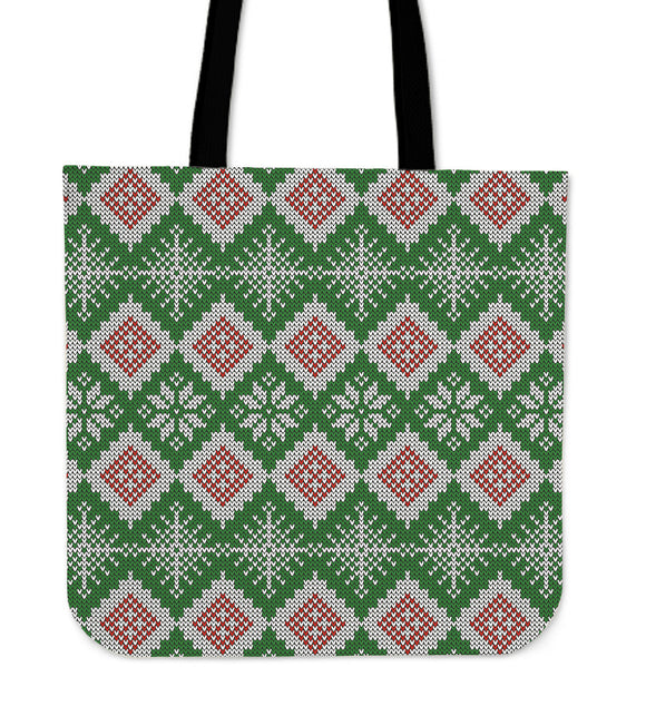Christmas Lovely Green Good Vibes Only Cloth Tote Bag