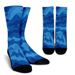 Blue Army Love Crew Socks