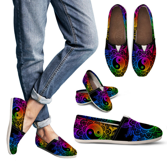 Colorful YinYang Peace Women's Casual Shoes