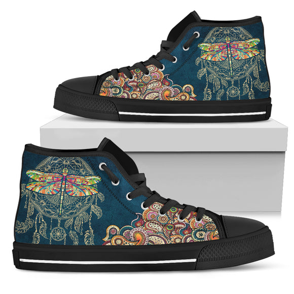 Dragonfly Women's High Top Shoes