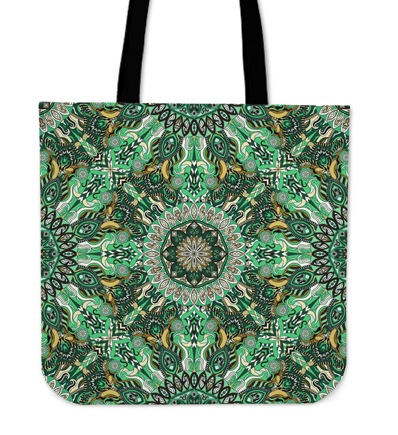 Green Mandala Tote Bag