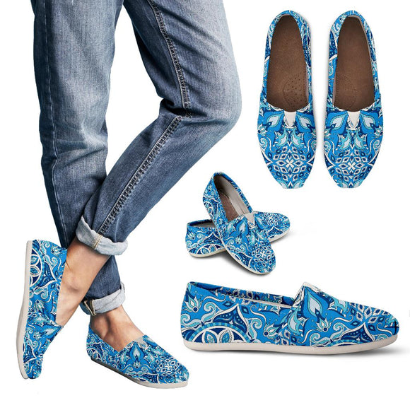 Blue Boho Magical World Women's Casual Shoes