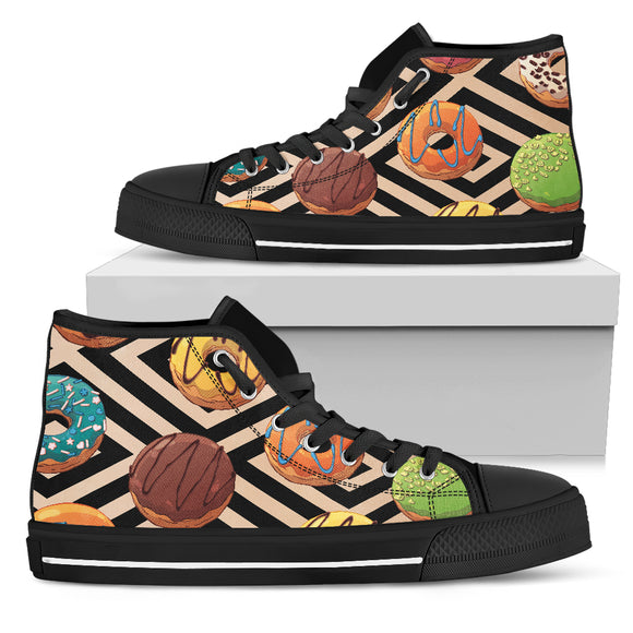 Sweet Donuts Women's High Top Shoes