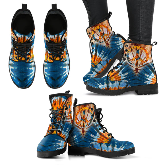 Tie Dye Peace Handcrafted Boots