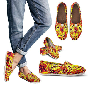 Red Sunny Mandala Women's Casual Shoes