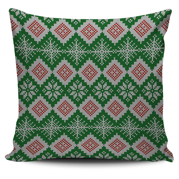 Christmas Lovely Green Good Vibes Only Pillow Cover