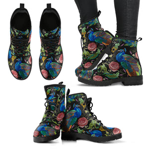 Perfect Full Of Art Peacock Handcrafted Boots