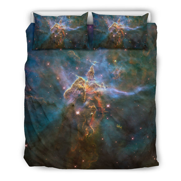Mystic Mountain In Galaxy Bedding Set